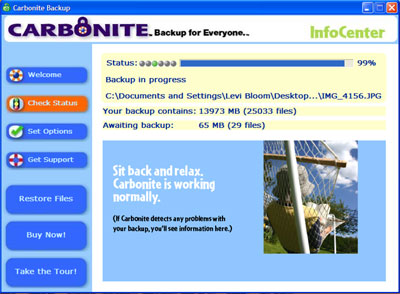 carbonite control panel