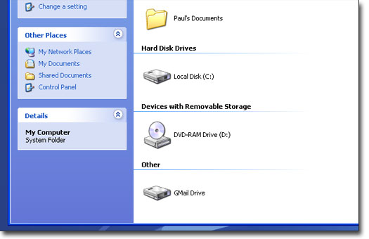 gmail drive my computer